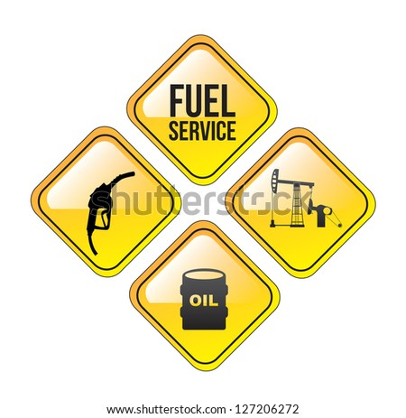 Fuel service over white background vector illustration - stock vector