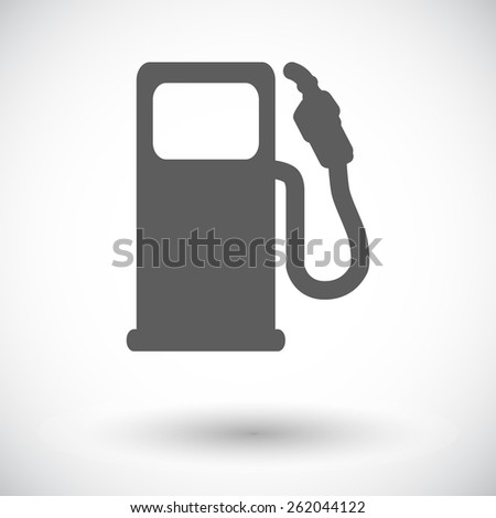 Fuel. Single flat icon on white background. Vector illustration. - stock vector