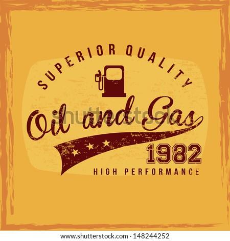 fuel superior quality over orange background vector illustration - stock vector
