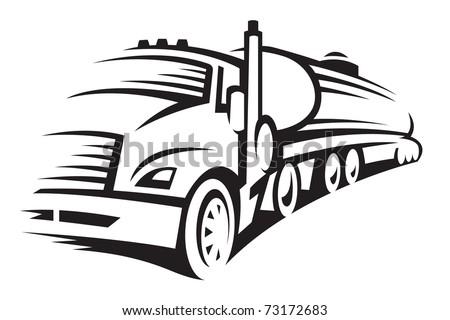 fuel truck - stock vector