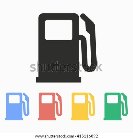 Fuel  vector icon. Illustration isolated on white  background for graphic and web design.