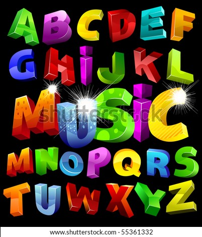 full alphabet with numerals look at my portfolio - stock vector