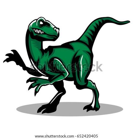 full body raptor clip art mascot stock vector 652420405 shutterstock rh shutterstock com raptor clip art Cartoon Raptor Dinosaur