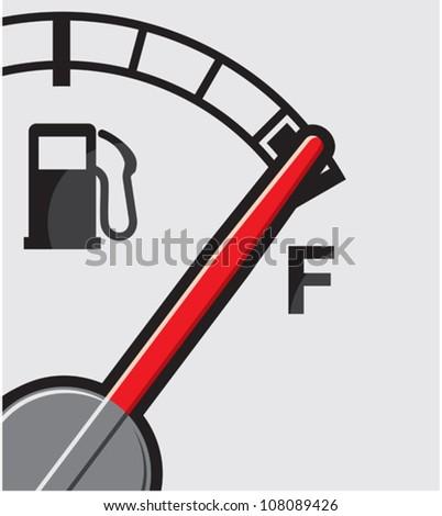 Full gas tank - stock vector