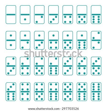 Full set of domino - stock vector