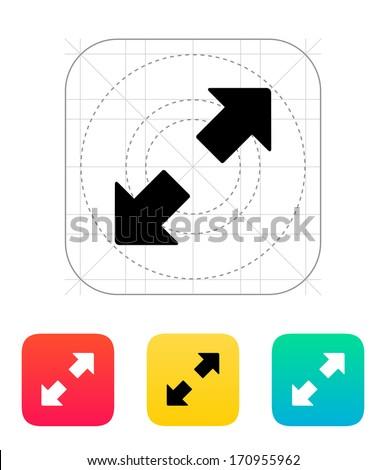Fullscreen icon. Vector illustration. - stock vector