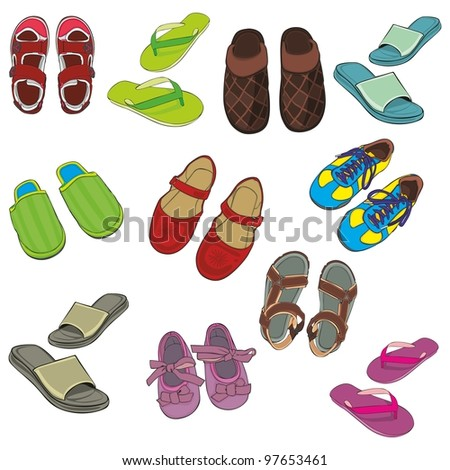 fully editable illustration isolated footwear
