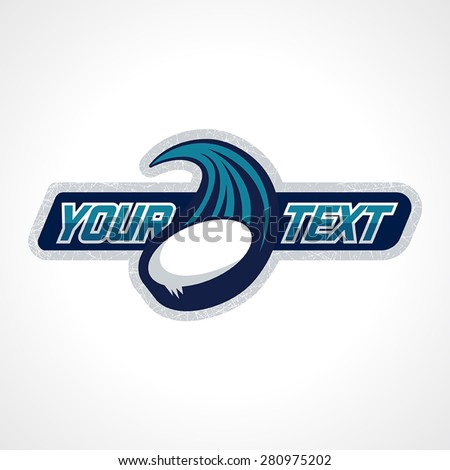 Fully editable professional hockey logo. This logo has area to key in your team's name.  - stock vector