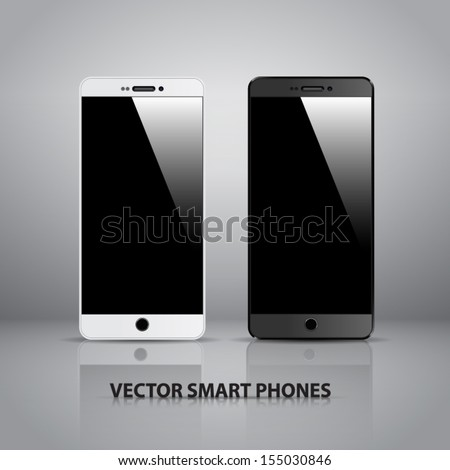 Fully editable vector concept of smart phone. - stock vector