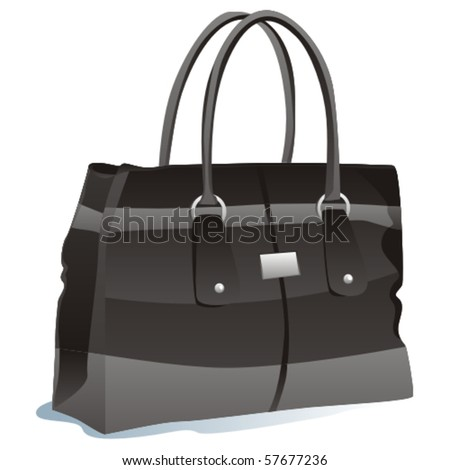 fully editable vector illustration of isolated bag