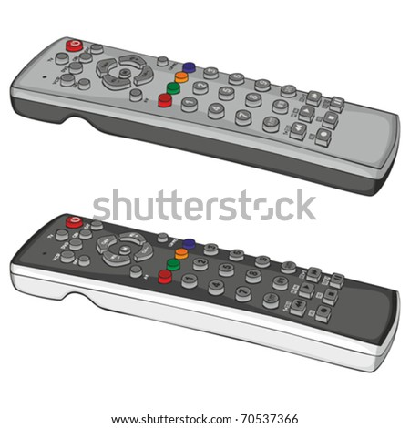 fully editable vector illustration remote control - stock vector