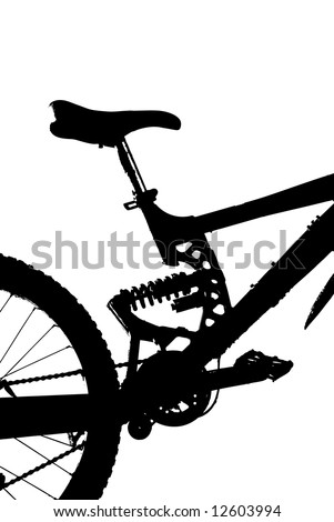 fully mountain-bike silhouette (detail) vector eps format - stock vector