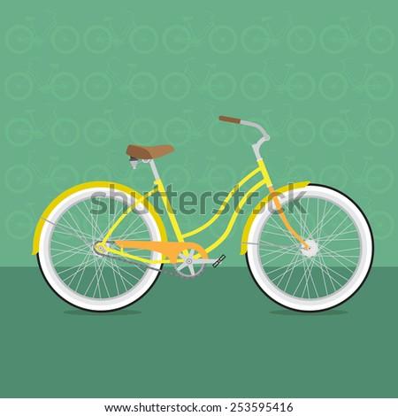 fun bicycle - stock vector