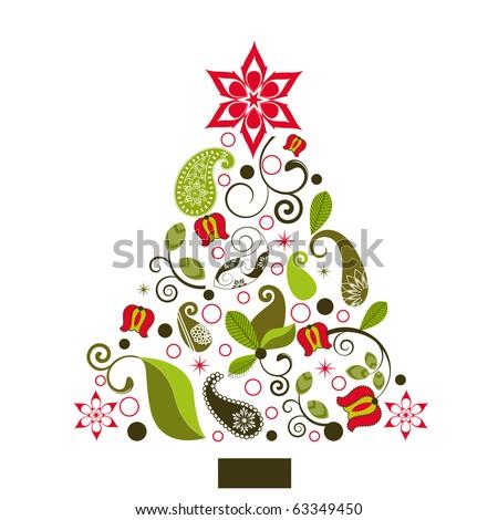 fun christmas tree - stock vector