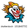 Fun circus clown in cartoon style for humor entertainment design. Jpeg version also available in gallery - stock vector