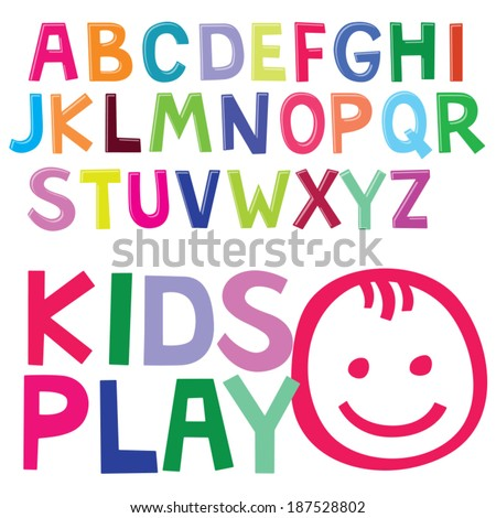 Fun Color Font For Kids Child Type