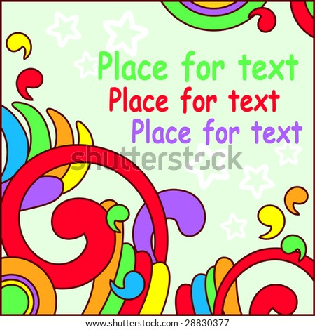 fun colored background with free space for text - stock vector