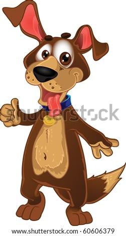 Fun dog ok - stock vector