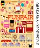 fun fair illustration/vector - stock vector