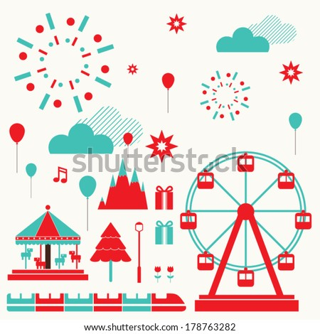Fun Park - stock vector
