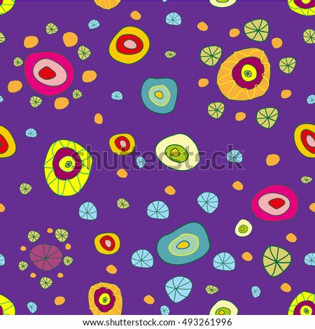 Fun purple seamless background pattern