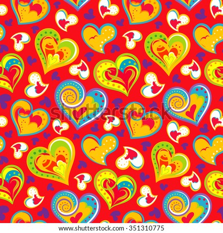 Fun seamless vintage love heart background stock photo photo fun seamless vintage love heart background in pretty colors great for baby announcement valentines negle Image collections