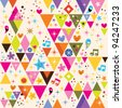 fun triangles background - stock vector
