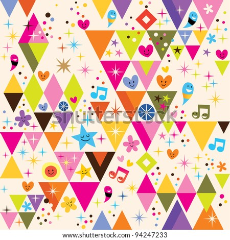 fun triangles background