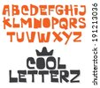 Fun vector font. Hand made type. Cool modern typeface - stock