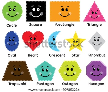 Fun with Shapes - stock vector