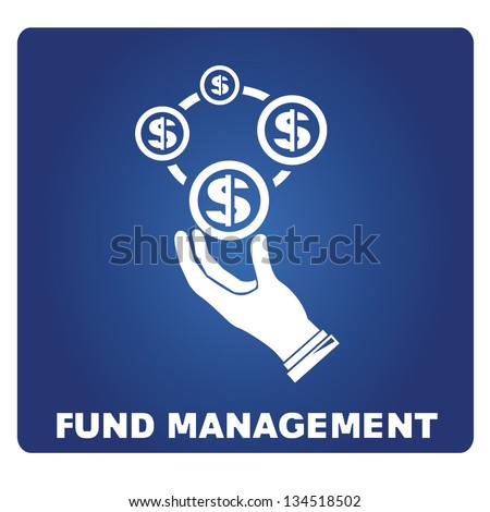 fund management - stock vector