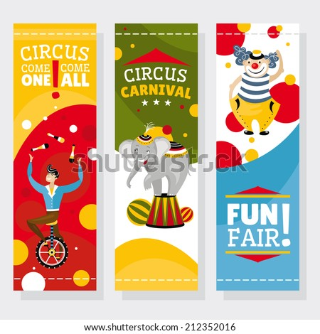 Funfair banners vector illustration - stock vector