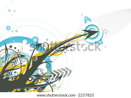 Funky arrows design - stock vector