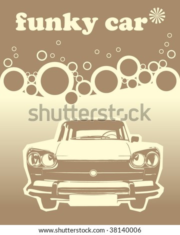 Funky car designed vector - stock vector