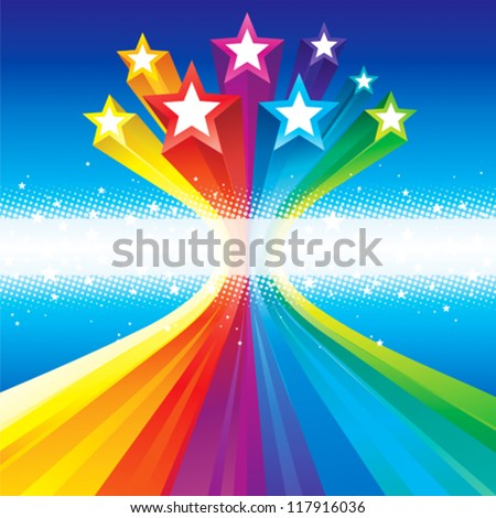 Funky Celebratory Stars - stock vector