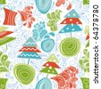 Funky Christmas seamless pattern - stock vector