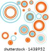 funky circles - bubbles modern colors - stock vector