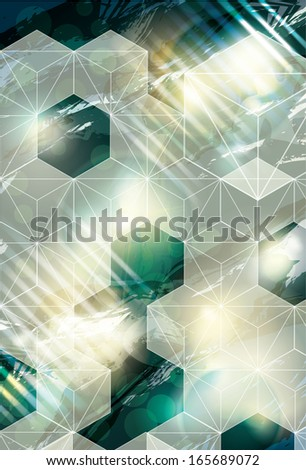 Funky Cube abstract background design - stock vector