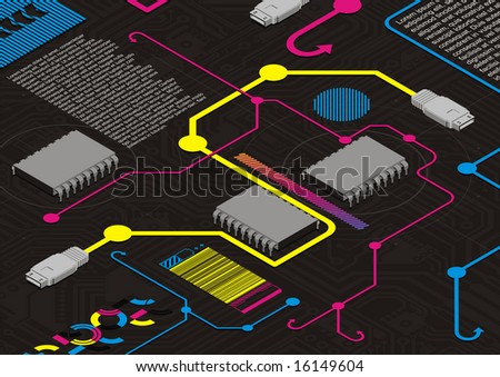 Funky design template for the digital age. - stock vector
