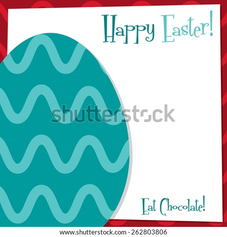 Funky Easter Egg card in vector format. - stock vector