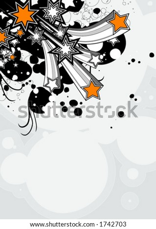 Funky festive design - stock vector