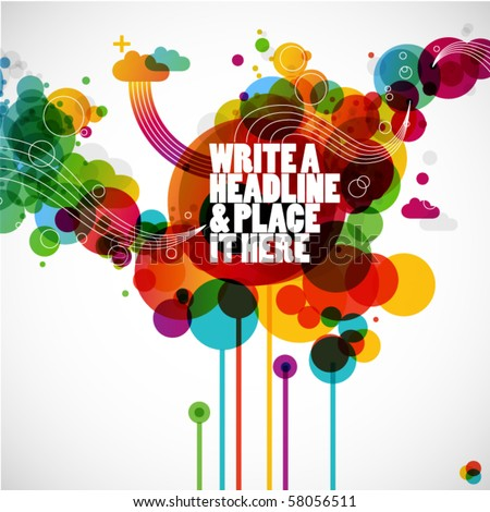 funky graphic design - abstract background - stock vector