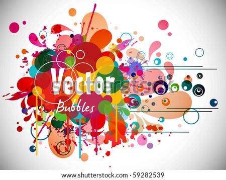 funky graphic design.vector illustration - stock vector