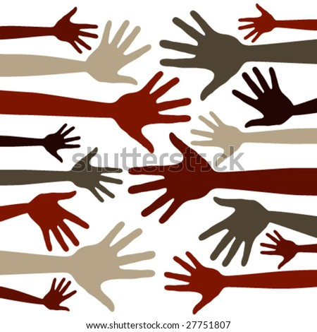 Funky hand pattern vector. - stock vector