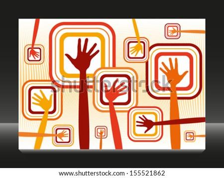 Funky hands vector design.  - stock vector