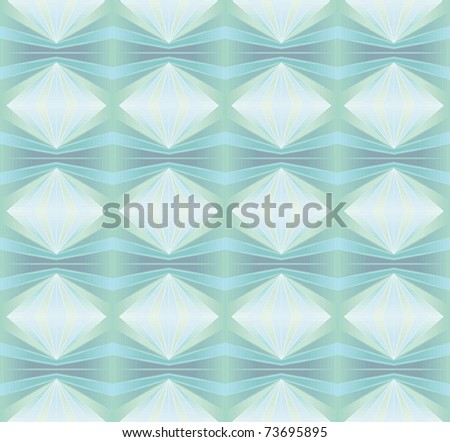 Funky repeating background with diamonds - stock vector