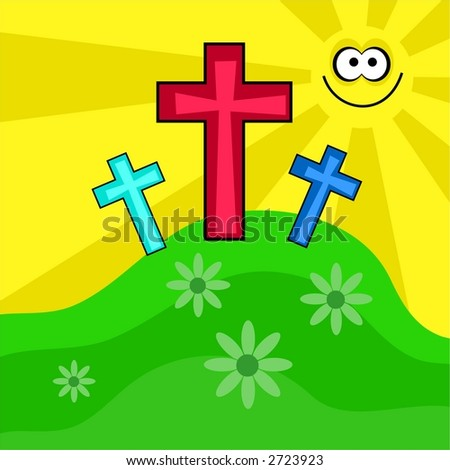 funky retro easter - stock vector