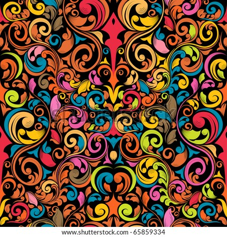 funky seamless pattern - stock vector