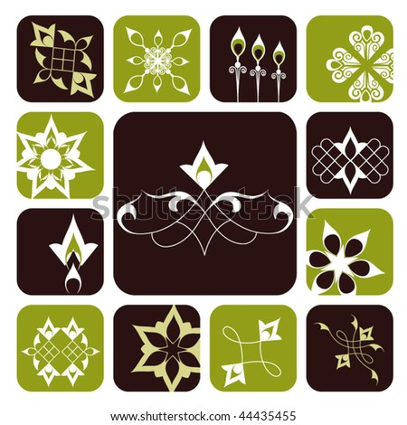 funky shapes (on shapes with edges not shown release clip masks to reveal full shapes) - stock vector