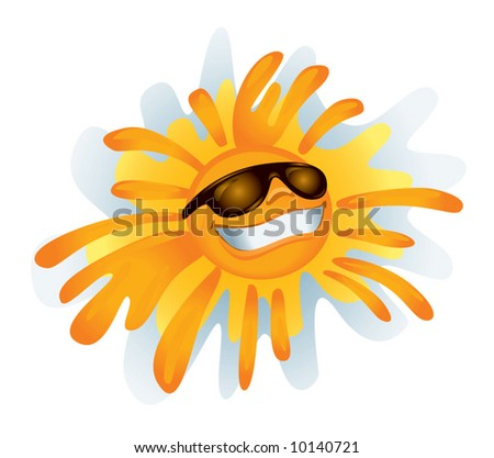 Funky Sun (vector). In the gallery also available XXL jpeg image made from this vector - stock vector